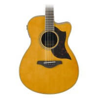 Yamaha AC1MVN Small Body Acoustic Electric Guitar w/ Cutaway in Vintage Natural