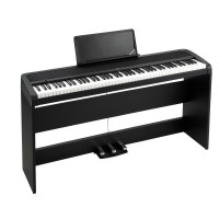 Korg B1SPBK Piano with Built-In-Speaker and 3 Pedal System w/ Matching Stand