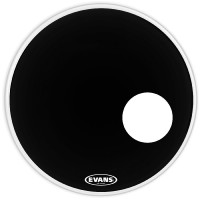 Evans EQ3 Resonant Black Bass Drum Head, 18