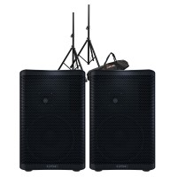 QSC CP8 Powered Speaker Pair Bundle