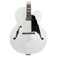 Dangelico Premier Series EX-L1 Archtop Hollow Body Guitar in White w/ Gig Bag