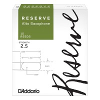 D'addario Woodwinds Reserve Alto Saxophone Reeds 10-Pack Strength 2.5
