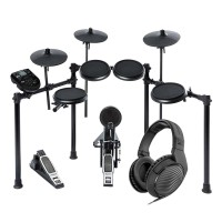 Alesis DM NITRO Electronic Drum Kit Bundle with Sennheiser HD200 Pro Headphones