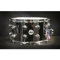 Drum Workshop 14x8 Collectors Series Black Nickel Finish on Brass Shell Snare