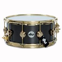 Drum Workshop 14x6.5 Black Nickel Over Brass Snare Drum w/ Gold Hardware