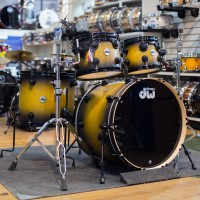 Drum Workshop Collectors Series Drum Kit In Aztec Gold to Black Burst