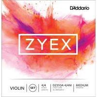 D'Addario Zyex Violin 4/4 Size Medium Tension Strings Set