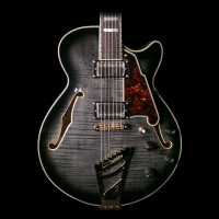 D'Angelico EX-SS Semi-Hollowbody Electric Guitar - Gray/Black w/ Case