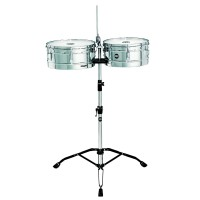 Meinl HT1314CH Headliner Series Steel Timbales W/Stand & Cowbell Holder