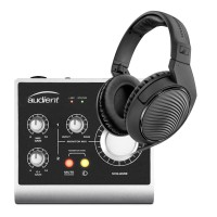 Audient iD4-Channel USB2 Interface and Monitoring System with FREE Headphones