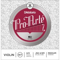 D'Addario J56 Pro-Arté Violin 4/4 Scale Medium Tension Set