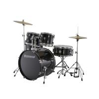 Ludwig Accent Drive Black 5-Piece Drum Set Black