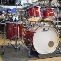 Pearl Masters Maple Complete Shell Kit In Vermillion Sparkle