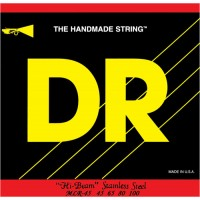 DR Strings Hi Beam Stainless Steel Round Core Bass Strings 45-100