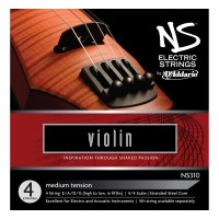 D'Addario NS310 Electric Violin String Set, 4/4 Scale, Medium Tension
