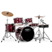 Mapex Rebel Series Drum Kit with Cymbals and Hardware in Burgandy