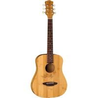 Luna Guitars Safari Bamboo 3/4 Satin Natural Acoustic Guitar Natural