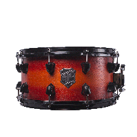 SJC Custom Orangeto Red Burst 7x14 Snare Drum