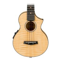 Ibanez UEW12E EW Flamed Maple Electric Concert Ukulele with Bag