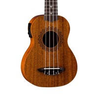 Luna Guitars VMSEL Vintage Series Acoustic Electric Soprano Ukulele