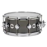Drum Workshop 5.5x14 Snare Drum Black Nickel Over Brass with Chrome Hardware