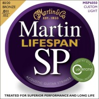 Martin MSP6050 Lifespan SP Acoustic Guitar Strings Custom Light 11-52