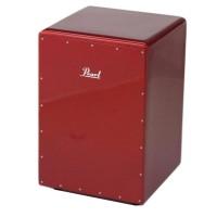 Pearl Boom Box Fiberglass Cajon in Red Sparkle