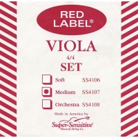 Super Sensitive SS4107 Red Label 4/4 Medium Viola String Set