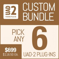 Universal Audio Plug-In Package with Your Selection of 6 UAD Plug-Ins