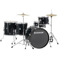 Ludwig Accent Power Plus 5-Piece Drum Set in Black Sparkle