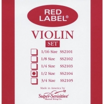 Super Sensitive 2104 Red Label Medium Violin Strings 1/2