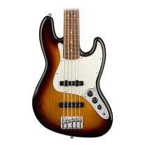 Fender Player Jazz Bass Guitar V - Pau Ferro Fingerboard - 3 Color Sunburst