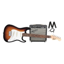 Squier Strat Short Scale Electric Guitar Pack w/ Frontman 10G Amp
