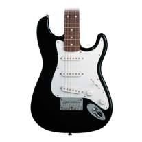 Squier By Fender Mini Stratocaster 3/4 Size Electric Guitar in Black