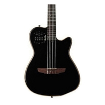 Godin Acssa Slim Nylon String w/ Synth Access Black w/ Gig Bag