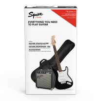 Squier Stratocaster Electric Guitar Starter Pack in Black