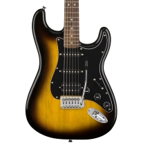 Squier Stratocaster HSS Electric Guitar Pack - Brown Sunburst w/ Frontman 15G