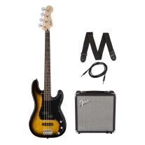 Squier By Fender Affinity Series Precision Bass PJ Beginner Pack, Laurel Brown
