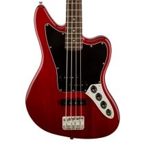 Fender Squier Vintage Modified Jaguar Special Bass - Crimson Red Transparent
