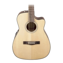 Fender CF140SCE Solid Top Acoustic Electric Folk Guitar in Natural