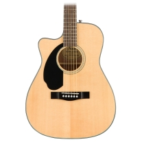 Fender CC60SCE Left Handed Concert Solid Top Acoustic Guitar in Natural