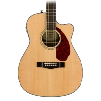 Fender CC140SCE Solid Top Concert Acoustic Electric Guitar in Natural