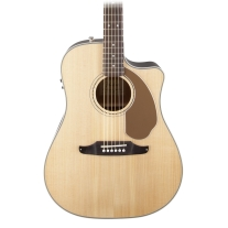 Fender Sonoran SCE Acoustic Electric Guitar in Natural with Cutaway