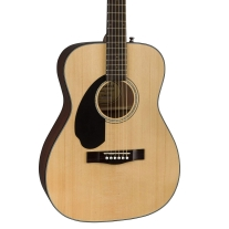 Fender CC60s Left Handed Solid Top Concert Body Acoustic Guitar in Natural