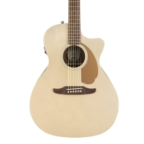 Fender Newporter Player Acoustic Electric Guitar in Champagne