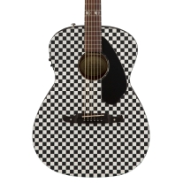 Fender Limited Tim Armstrong Hellcat Checkerboard Acoustic Electric Guitar
