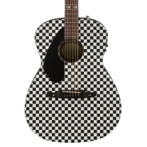 Fender Tim Armstrong Hellcat Checkerboard Acoustic Electric Guitar Left Handed