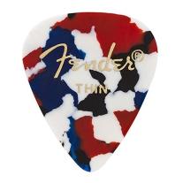 Fender 351 Shape Premium Guitar Picks, Thin, Confetti, 12 Count