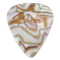 Fender 351 Premium Celluloid Guitar Picks, 12-Pack, Abalone, Thin