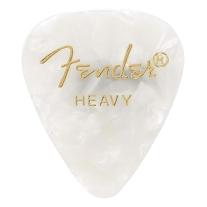 Fender 351 Premium Celluloid Guitar Picks 12-Pack - White Moto - Heavy